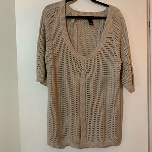 Tan Lane Bryant short sleeve sweater